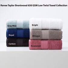 Renee Taylor Brentwood 650 GSM 100% Cotton Low Twist Hand|Bath Towel|Sheet|Mat
