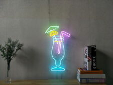 New Cocktail Bar Lemon Neon Sign Artwork Wall Art Dimmable Includes Dimmer