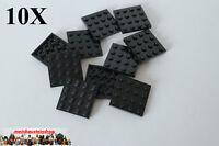 10X Lego® 3031 Basic Platten 4X4 Schwarz Black NEU1