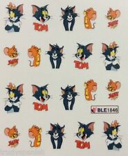Nail Art Water Decals Transfers Tom and Jerry Gel Polish UV Tips Decoration 1846