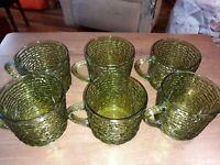 Anchor Hocking Avocado Green Soreno Coffee Cups