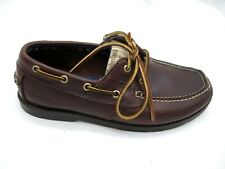 Timberland burgundy maroon red boat deck shoes Mens casual loafers 7W wide 5230R