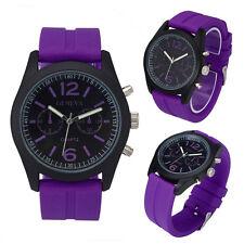 Women Watch Fashion Unisex Silicone Sports Watch Analog Quartz Wristwatch I