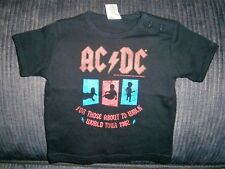 """AC/DC BABIES SIZE 00 TOP TSHIRT """"FOR THOSE ABOUT TO WALK WORLD TOUR 1982"""""""