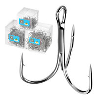 100pcs/set Fishing Hook Sharpened Treble Hooks 1/2/4/6/8/10/12/14 Fish hooks