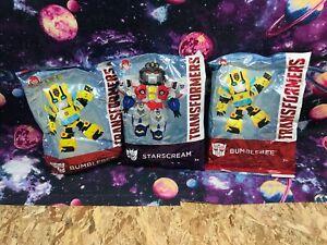 Wendys Kids Meals Transformers Lot Starscream Bumblebee Robots 2019 Sealed Toys
