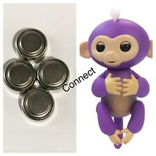 (4) WowWee Fingerlings Electronic Monkey Unicorn Sloth Replacement Batteries (4)