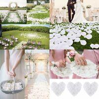 1000 Silk White Rose Petals Flower Wedding Engagement Confetti Party Decoration