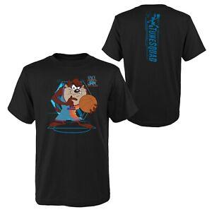 Space Jam Kinder T-Shirt Tech Spine TAZ Devil schwarz Team New Legacy Youth NBA