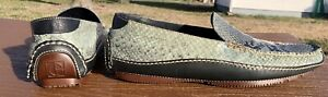 Cole Haan Genuine Snakeskin Leather Loafers Flats Shoes Men's 9M