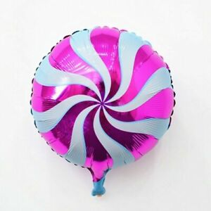 Hot Pink Swirl Candy Shape Foil Air/Helium Balloons Birthday Sweets Candybar UK