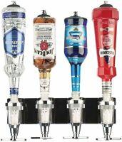 Bar butler, Support mural pour quatre bouteilles, Distributeur de spiritueux