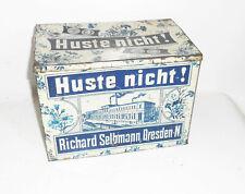 Alte Blechdose Huste nicht ! Richard Selbmann Dresden N um 1910 !