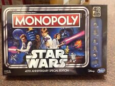 Star Wars 40th Anniversary Monopoly Board Game New! US SELLER FAST SHIPPING
