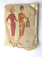 RARE VTG 1959 1950's DRESS McCALL easy rule Sewing Pattern 5179 sz 14, 34 1/2