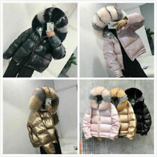 Women's 90% Duck Down Coat Real Fox Fur Collar Jacket Winter Puffer Parka Tops