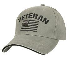 US Military Veteran USA Flag Low Profile Baseball Cap Hat Ballcap Rothco  3599 514c7c37b136