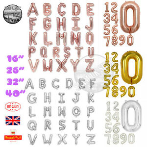 Large Helium Foil Balloons Number 0-9 Alphabet A-Z Letter Self Inflate Balloons