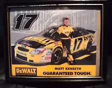 "SIGNED MATT KENSETH DeWalt #17 Taurus Advertisement NASCAR 10"" X 8"" Glass Frame"