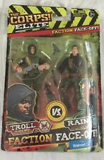 The Corps Elite VS The Curse Faction Face Off Troll & Rain Figures 2016 Lanard