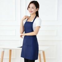 Wholesale Pure Color Cooking Kitchen Apron For Chef Waiter Shop BBQ Aprons NEF