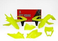 KTM EXC 17 18 Flo Amarillo Neón Racetech Kit Plástico con máscara de faros