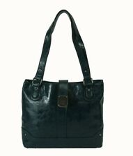 STYLE & CO TWISTLOCK Dark Turquoise Faux Leather Tote Bag Msrp $88.50