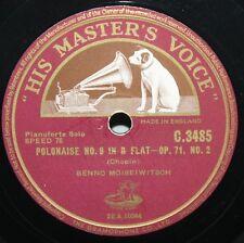 "12"" 78 - Benno Moiseiwitsch - Chopin, Polonaise No. 8 in B Flat - HMV C3485"