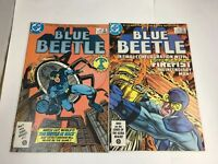 Blue Beetle # 1 & # 2 DC Comics 1986 Ted Kord Len Wein VF+