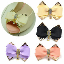 Crystal Butterfly Bowknot Shoe Clip Buckle Removable High-heel Decor Wedding 1X