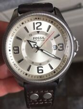 MENS FOSSIL FS-4936 LEATHER STRAP WATCH