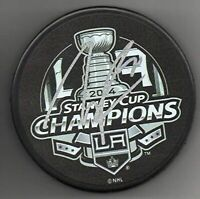 Tanner Pearson signed Puck Los Angeles Kings 2014 Stanley Cup Champs + Cube