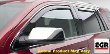 EGR 4pc Front & Rear Smoke Window Visor In Channel for 04-12 Colorado  # 571291