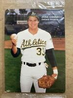 Jose Canseco 1990 Mother's Cookies Baseball Card 1/4. Sealed. Oakland Athletics
