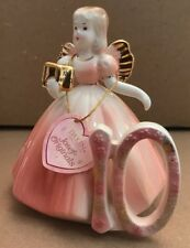 Vintage Josef Originals Birthday Girl 10  Figurine Angel Hang Tag