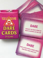 Hen's night Bride to be Bachelorette Party Fun Novelty Game Dare Cards 24pc