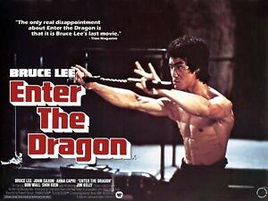 """ENTER THE DRAGON 1973 custom quad poster 30x40"""" Bruce Lee John Saxon FREE P&P"""