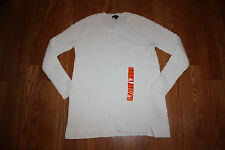 NWT Womens NAUTICA Ivory White Long Sleeve Cable Knit Sweater Sz XL X-Large