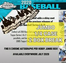 CINCINNATI REDS 2020 TOPPS CHROME BASEBALL JUMBO 1/4 CASE 2 BOX BREAK #7
