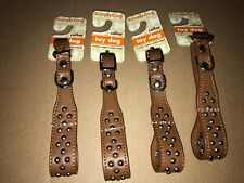 SimplyDog Brown Dog Collar For Toy Breeds - 3/8 inch x 6-9 inches