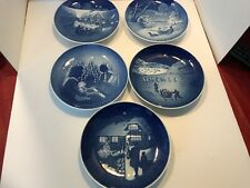 Bing and Grondahl Christ Plates Five Plates. 1969 through 1973