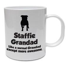 Staffordshire Bull Terrier Dog Mug - STAFFIE GRANDAD - Funny Staffie Dog Gift