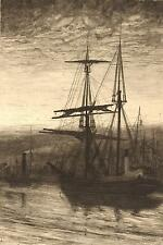 John Park : THE END OF THE VOYAGE, 1880 - Original Etching