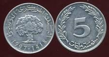 TUNISIE  5 millim  1997  NEUVE