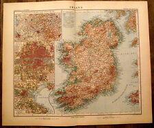 Carte geographique Irlande,Ireland, 1910,