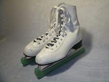 New listing Slm Canada White Leather Figure Ice Skates / Us 10 / Eur 42 Women'S
