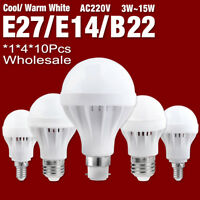 E27 B22 E14 220V 3/5/7/9/12W Energy Saving LED Bulb Light Warm/Cool White Lamp