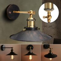 Retro Vintage Industrial Metal Wall Sconce Ceiling Pendant Light Lampshade