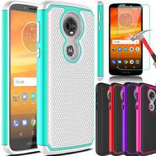 For Motorola Moto E5 Plus / Supra Hybrid Hard Phone Case /Glass Screen Protector