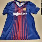 """FC BARCELONA 2017 HOME JERSEY """"MESSI N°10"""" SIZE  S PIT-PIT 50cm (box40)"""